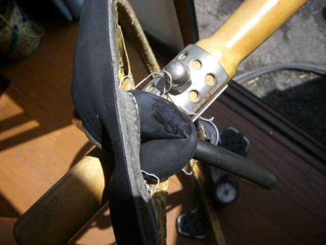 チューブラータイヤパンク修理