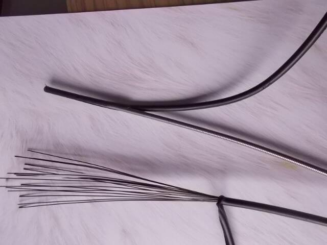 通常のワイヤーとOT-RS900の構造の違い