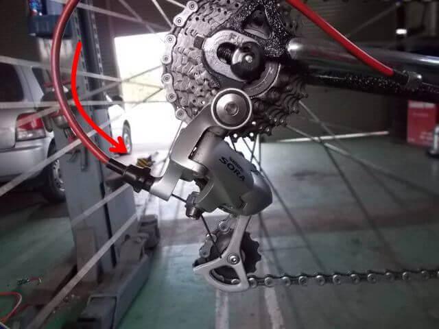 変速すると変速機の位置が変わるロー側