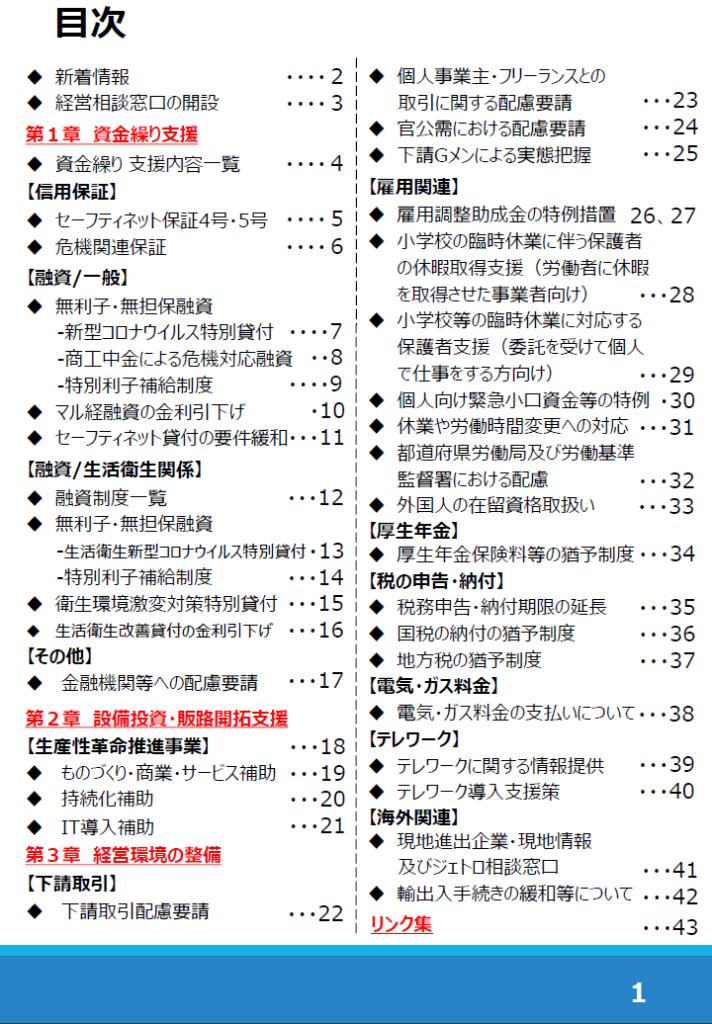経産省の支援策pdf目次
