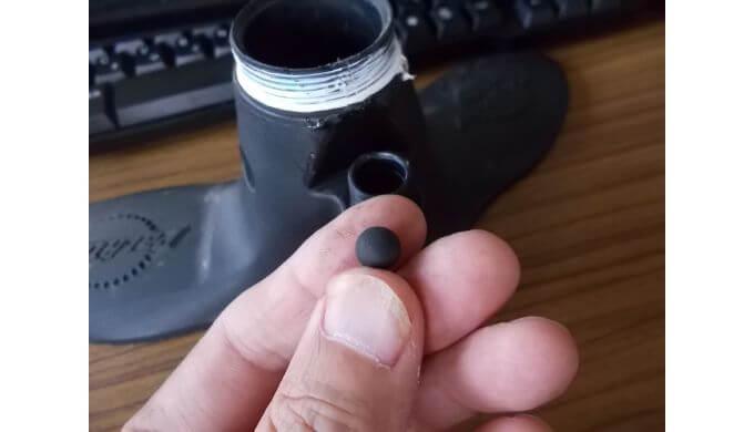 パークツールポンプのチェックボール(チェックバルブ)