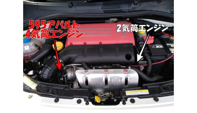 FIAT500 のエンジン刻印位置