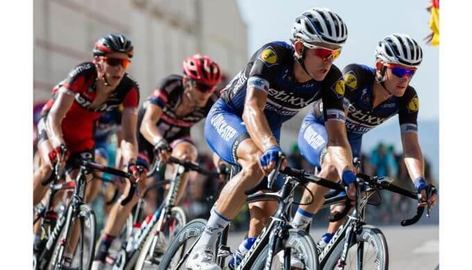 自転車競技の練習